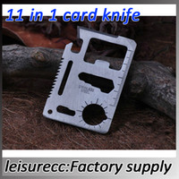 Cheap Credit Card Tool Stainless Steel Knife White Multifunction Saber Emergency Survival Pocket Knife camping Outdoor HW0031