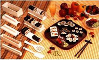 Silicone Sushi Molds ECO Friendly Japan Kitchen Sushi Maker Rice Roll Cutter Molds Mould Roller Lunch Bento 5 in 1
