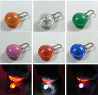 Wholesale New Pet Dog Cat Led Pendant ID Tag Safety Light Glow Light Up Collar Flasher Blinker Keyc