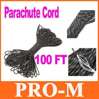 Wholesale 100FT Paracord Strand Assorted Color Camping Climbing Parachute Cord Nylon Safety Rope H8141
