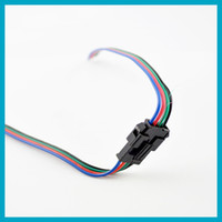 Wholesale 5pcs RGB Wire Led pin Strip Male Female Connector cm Cable For