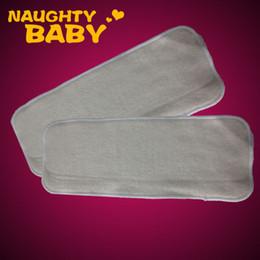 Livraison gratuite 5 pcs Reuseable Hemp Organic Cotton Insert pour bébé en tissu à couches Nappy Inserts