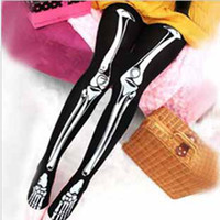 Wholesale Halloween Costume Women Sexy Skull Skeletons Leggings Stocking Tights Punk Bone