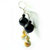 Dangle & Chandelier   Crystal natural black tourmaline drop earring new arrival natural drop earring