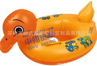 Wholesale EMS free ship Baby Swim Ring Yellow Duck Water Fun Floater Swimming Boat11pcs