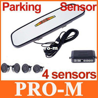 Wholesale Parking sensor amp Rearview Mirror Parking Sensors Car Backup Reverse Radar Rearview Mirror