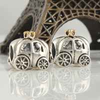 Wholesale Small car handmade silver charm use to build diy gift european bracelets and necklaces bead craft supplies LW024