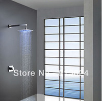 Wholesale LED Contemporary Wall Mount Chrome quot Brass Shower Faucet Set