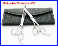 Wholesale 50 set Hair Scissors kid Hakucho Cutting Thinning Scissors Hairdressing Scissors INCH JP440C