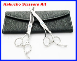 Wholesale 50 set Hair Scissors kid Hakucho Cutting Thinning Scissors Hairdressing Scissors INCH JP440C