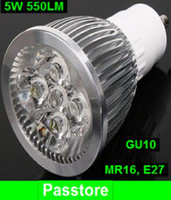 Wholesale 5W LED Spotlight Bulbs LM Warm Cool White GU10 LED Bulb Light Lamp LEDs V MR16 V
