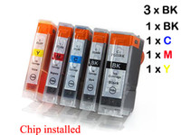 Wholesale 7 ink cartridge with chip for Canon PGI BK CLI iP4200 iP3300 iP3500 iP4300 iP4500 iP5200