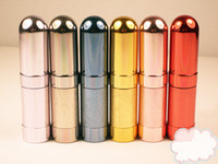 Metal aluminum spray - 5ml Colors Travalo Aluminum Mini Refillable Travel Perfume Spray Bottle Makeup Bottle