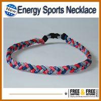Wholesale For Christmas softball Baseball Sports Titanium Rope Braided Sport Necklace bracelet