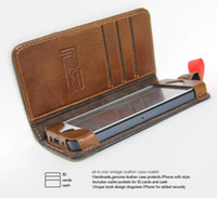 Wholesale Pilsen Retro Classical Design Book Case Real Leather Case Pouch W Card Holder For iPhone G