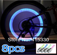 Wholesale 8PCS Bike Bicycle Cycling Car Tyre Wheel Neon Valve Firefly Spoke LED Light Lamp