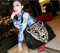 Wholesale 2013 fashion leisure Korean handbag leopard head sequins bag ladies shoulder bag HB210 f2