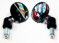 Wholesale 7 quot Round MOTORCYCLE SIDE BAR END Rear view MIRROR for any Bike ATV Scooter Pit Bike Chopper Dirt B