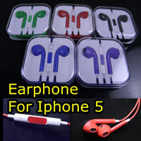 Wholesale Colorful Earphone for Iphone Headphone Earbods Headset with Mic and Volume Control for Iphone5 g