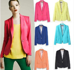 Wholesale New Arrivals Za Brand Tunic Foldable sleeve Blazer tops Candy Colors Casual Women Blazers New