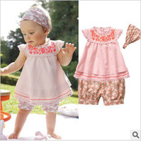 Christmas Girl 1-3 years Summer Fashion Baby Girl's Florals Clothes+Headdress Cool Kid's Cute Comfortable Three-pieces Suits