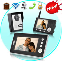 Wholesale Double Vision Guardian Wireless Video Door Phone with Dual Receivers CMOS Sensor