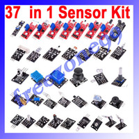 Wholesale 37PCS Arduino Compatible Sensor Switch Flame Temperature Color LED Buzzer Relay in Module Kit