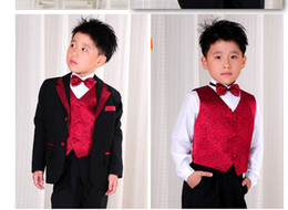 Wholesale 7pcs Wedding Dress Suit boy s Boys Attire Groom Tuxe Boys Formal Occasion Flower Girls Dresses gt a