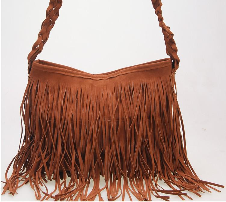 Hot Sale Suede Fringe Tassel Shoulder Bag Women's Fashion Handbag ...