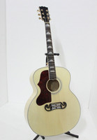 Wholesale Chinese Guitar New Arrival Natural J200 Left Hand Acoustic Guitar Best Selling A83