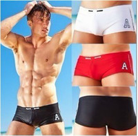 Briefs Polyester  free Shipping Man's Boy's Sexy Cool Swimwear Swimming Trunks Swim Shorts 3 Colors 4 Sizes