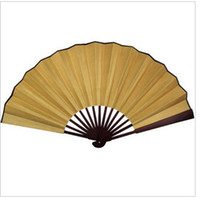 Christmas white hand fans - Big Blank White Hand Fans Folding inch Chinese Silk Fabric Fan Free