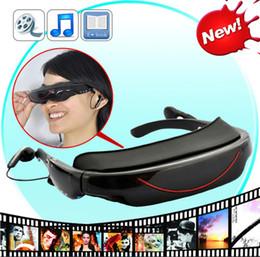 Gafas portátil de 72 pulgadas 16: 9 HD estéreo con pantalla grande Reproductor multimedia 3D vidrios video virtual regalo interfaz eficio Teatro 4GB HDMI