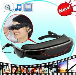 Lunettes Portable 72 pouces 16: 9 HD stéréo Widescreen Lecteur multimédia 3D Lunettes vidéo Virtual Theatre 4GB HDMI cadeau interface EFIT