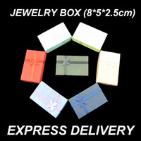 Wholesale 1000pcs Packaging Gift Paper Jewelry Box cm for Ring Necklace Ribbon Bow