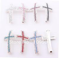sideways cross bracelet - Crystal Claw Chain Sideways Cross Connector Rhinestone Cross Links Charms For Bracelet Making