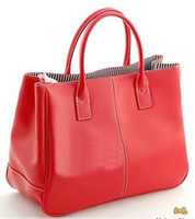 Wholesale Faux Leather Women s Tote Shoulder Bags Handbag Red Brown Pastel Pink Beige Korea tote