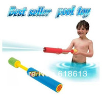 Wholesale 24PCS M size Soft Safe pump EVA water gun squirt Floating Water Cannon Foam Gun summer toy Expand