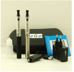 Wholesale best seller mAh ego ce4 electronic cigarette Double pole Leather box ce4 atomizer E cig ego T