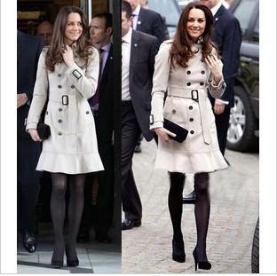 Kate Middleton Wool Coat Women's Outwear Fashion Double-breasted ...