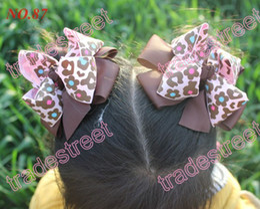 "free shipping 60pcs 4.5""layered hair bows girl hair accessories popular hair clips"