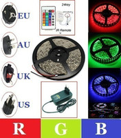 Wholesale CE amp ROHS Non Waterproof RGB Led Strip V Leds M SMD Keys Controller Power Supply
