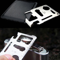 Wholesale 500 in Multi Tool Card Emergency Survival pocket Knife saw bottle opener