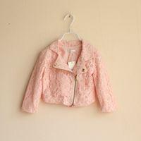 baby girl kids lace cardigan floral flower crochet Coat hood...