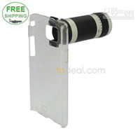 Wholesale X18 Optical Zoom Lens Mobile Phone Telescope with Case for Samsung i9100 With Transpa