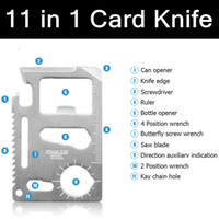 Wholesale 1000 Brand New in Multifunction Multi Credit Card Survival Knife Camping Tool