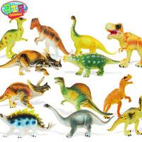 Wholesale Shipping dinosaur model set simulation play house toys child handmade doll gift childhood animal