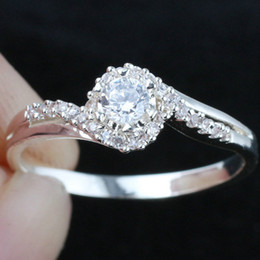 Womens White Topaz Pure Band Sterling Silver 925 Ring WEDN R144 Size 6.5 7 8 9