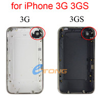 Wholesale Back Housing for iPhone G GS Back Cover Housing with Chrome Bezel Middle Frame and Volume Button Black White GB GB GB AF093 AF093A