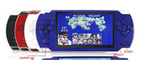 Wholesale 4 inch G MP4 MP5 PMP Handheld Game Player Console bulit in camera FM TV OUT games